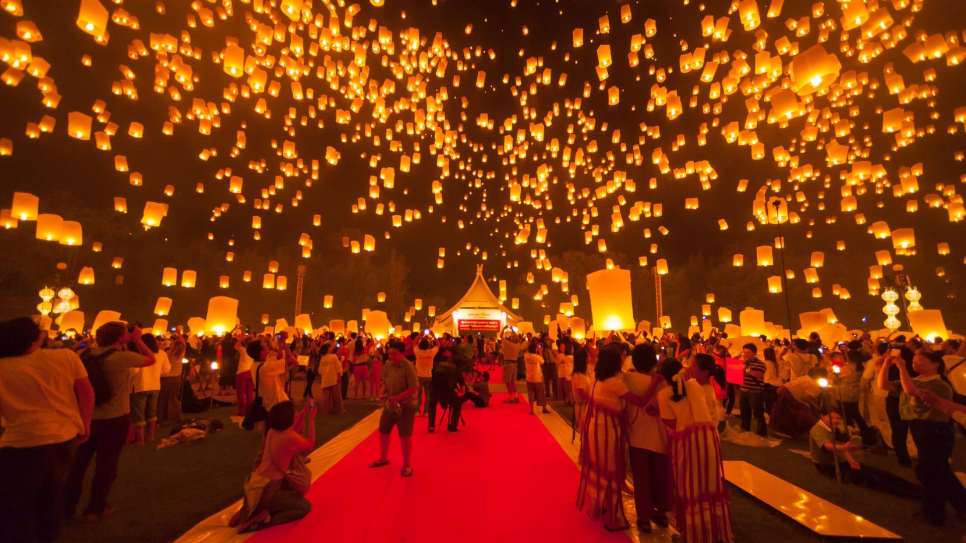 Thailand Lantern Festival held despite mourning period for Lantern Festival Hd  535wja
